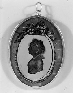 early 19th century painted glass pendant (possibly Russian) - in the Metropolitan Museum of Art costume collections.