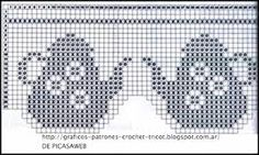 Resultado de imagen para patrones de cortinas tejidas al crochet