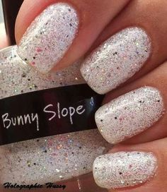 White sparkley glitter