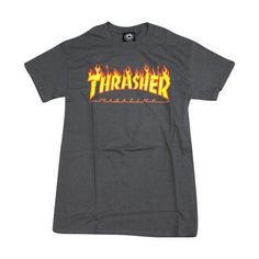 Find Thrasher Magazine Flame Black Men's Short Sleeve T-Shirt - Medium online. Shop the latest collection of Thrasher Magazine Flame Black Men's Short Sleeve T-Shirt - Medium from the popular stores - all in one Thrasher Outfit, Thrasher Sweatshirt, Thrasher Flame, Thrasher Magazine, Outdoor Outfit, Sport T Shirt, Cool T Shirts, Men's Shirts, Shirts For Girls
