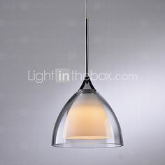 Glass Modern Bar Pending Single Lamp with LED Light Source. - USD $ 68.99