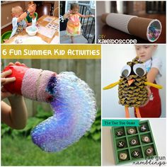 DIY kid summer activities and crafts tutorial at Rae Gun Ramblings
