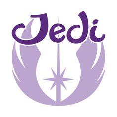 Awesome 'Jedi+Girl+-+Purple' design on TeePublic! - Represent the Jedi Order in style! (SciFi Tshirts)