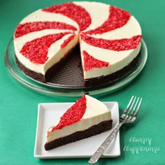 Holiday Recipes - Peppermint Swirl Mousse Cake
