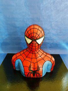 Homem aSpider man 3D sculpted cake