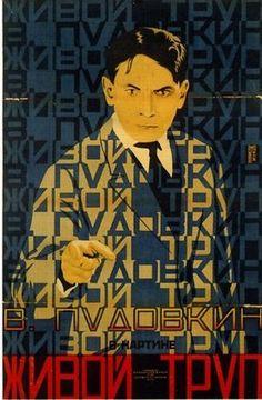 Soviet Film PosterFilm poster for the Societ film Zhivoi trup (The Living Corpse), 1926