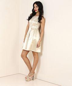 Yepme Janet Party Dress - Golden