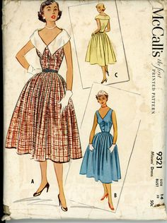 Vintage 1950/'s McCall/'s 4570 Bodice and Skirt Sewing Pattern size 12 Bust 32