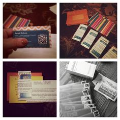 Great idea for sharing business cards & product via snail mail! Who doesn't live getting treats in the mail??