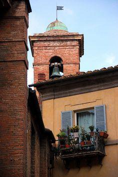♕ | Campanile di Piazza Tolomei - Siena | by © VT_Professor