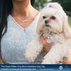 Our Dog Bone Necklace and free dog tag to benefit Cesar Millan Foundation. #cesarmillanfoundation #dogbonenecklace #cesarmillan #giftsfordoglovers #doglover #silverjewelry