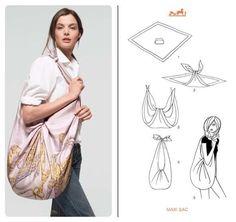 esta forma de hacer un bolso de moda me encanta
