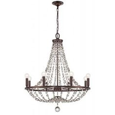 Channing 8-light Chocolate Bronze Crystal Chandelier