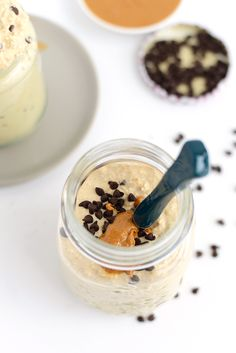Get 18 grams of protein and a ton of fiber in your first meal of the day with these peanut butter chocolate chip cookie dough overnight oats!