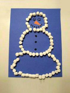 Marshmallow Snowman. How cute!
