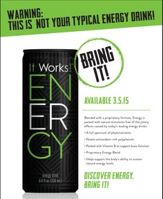 I CANNOT wait to try this! All natural energy with a pear, blueberry, and cranberry flavor! Yummmmm! Available in March! Let me know if you want to be added to the pre-order list!