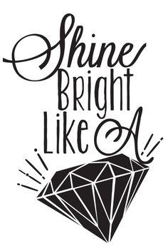 Shine Bright Like A Diamond - Rihanna Canvas Print by Krista ...