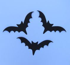 Bat die cuts Large Bat Die Cuts Paper Bats by MyMixedMediaCrafts