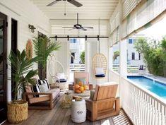 Bright coastal outdoor patio space