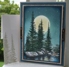 Ray's Moonlit Stream by LeisaJane - Cards and Paper Crafts at Splitcoaststampers