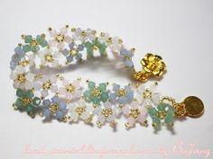 Floating Opal Blossoms Bracelet   AllFreeJewelryMaking.com