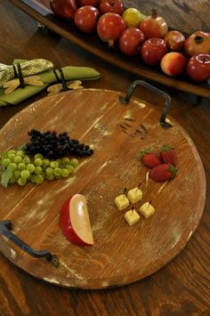 Australian Marketing and Design Province Platters. Beautiful platters made out of reclaimed wine casks. Perfect for serving!