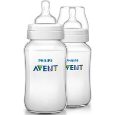 Philips AVENT Classic Plus BPA Free Polypropylene Bottles, 11 Ounce (Pack of 2)