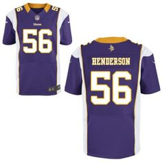 New Nike Vikings 56 E.J. Henderson Nike Elite Jersey Purple Team Color NFL  Jersey e8e44d5ea2d