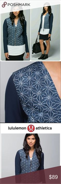 LULULEMON Athletica Cardigan and Again Blue NEW LULULEMON Athletica Cardigan and Again Blue NEW. New with tags. Size 4. Warm and cozy. Soft, sweat wicking fabric. Quilted PrimaLoft insulation. Loose fit, hip length. lululemon athletica Jackets & Coats Utility Jackets
