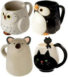 Kaitlyn would be the owl, Rylee is the koala, Lizzie's the cat and I would probably be the penguin.