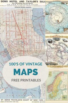 A wonderfully curated collection of amazing antique maps to download and use for free. From countries to continents and cities. #maps #ScrapbookingSimple