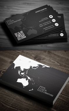 Best of 2017 Business Card Designs - Graphic Files Examples Of Business Cards, Business Cards Layout, Black Business Card, Free Business Card Templates, Free Business Cards, Modern Business Cards, Business Card Design, Corporate Business, Corporate Design
