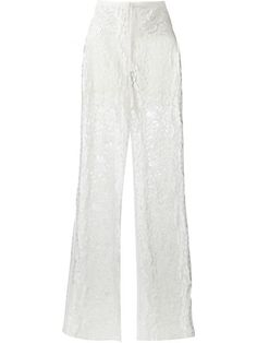 ELIE SAAB Floral Lace Trousers. #eliesaab #cloth #trousers
