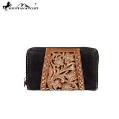 TOOLED WALLET - COFFEE