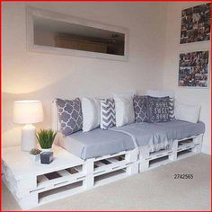 Diy Furniture Couch, Diy Pallet Furniture, Home Decor Furniture, Furniture Projects, Furniture Makeover, Diy Home Decor, Furniture Design, Furniture Storage, Diy Bedroom Projects