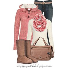 """""""Light Red, Cream and Tan"""", created by jaycee0220 on Polyvore"""