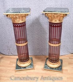 This item is unavailable Marble Columns, Pedestal Stand, William And Mary, French Empire, Empire Style, Cut Glass, Hand Carved, Candle Holders, Tables