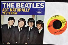 Beatles-Act Naturally-Yesterday-Capitol 5498-In Picture Sleeve-1965-Buck Owens!!