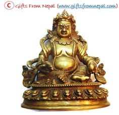 "6""  Kuber God Brass Statue - God of Wealth @ $114.99 from Gifts From Nepal.  Click the link to buy this item: http://www.giftsfromnepal.com/kuber-god-brass-antique-statue-god-of-wealth-kubera-lord-of-riches-100s/"
