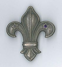 1940's BRITISH / UNITED KINGDOM SCOUTS - LADY WORKER Metal Scout Pin Badge~ RARE
