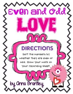 Use these little Valentine monsters to reinforce the concept of even and odd numbers!! Students sort the number cards and show their work on the re...