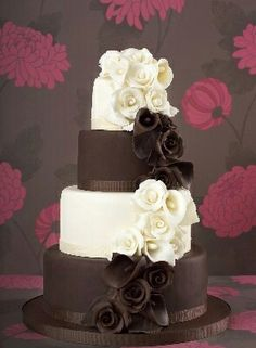 Pretty chocolate cake
