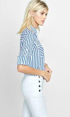 Original Fit Striped Portofino Shirt from EXPRESS