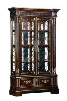 Queen Anne Fine Quality Burr Walnut Display Cabinet Glass Circa 1910 Glazed