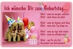 Ich wünsche Dir zum Geburtstag