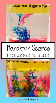 Kids love science!  They also love fireworks!  This fireworks in a jar experiment teaches kids science while they are mesmerized by the fireworks they create.  #scienceexperimentskids #STEM #fireworksinajar Science For Toddlers, Science Experiments For Preschoolers, Preschool Science Activities, Teaching Science, Activities For Kids, Chemistry Experiments, Science Chemistry, Physical Science, Science Education