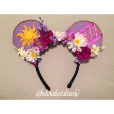 Rapunzel Custom Minnie Mouse Ears