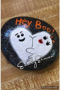 Image result for BOO PAINTED ROCKS