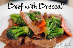 Beef With Broccoli // Carne Con Brócoli