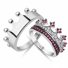 King And Queen Wedding Rings Jewelry Accesories Pinterest